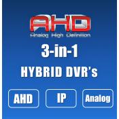 AHD DVRs (3-in-1)